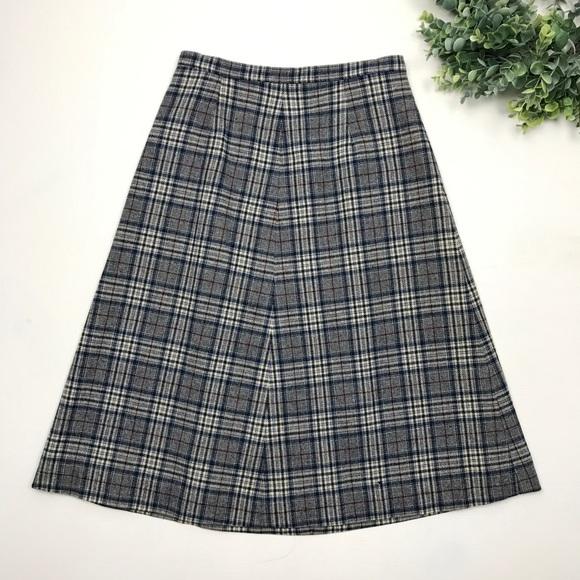Pendleton Dresses & Skirts - Vintage Pendleton | Navy Plaid 100% Wool Skirt